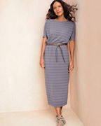 Soft Stripe Midi Dress