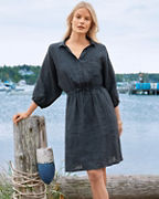 Lightweight Linen Batwing Dress