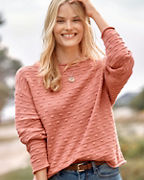 Bobble-Stitch Pullover
