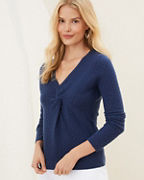 Cashmere Twist-Bodice Sweater
