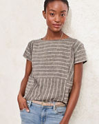 Seamed Linen Top