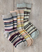 Shimmer Striped Socks