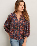 Velvet by Graham & Spencer Flora Block-Print Shirt