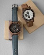 Tense Cambridge Chrono Suede Watch
