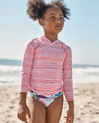 Girls' Hooded UPF Sun Shirt