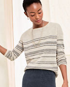 Essential Linen Boxy Boatneck Sweater