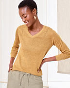 Classic Linen V-Neck Sweater