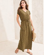 Easy Cap-Sleeve Knit Maxi Dress