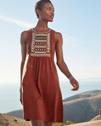 Boho Embroidered Knit Dress