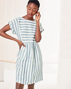 Seamed Linen Popover Dress