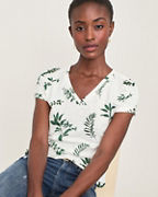 Easy Organic-Cotton V-Neck Tee