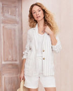 Washed-Linen Blazer