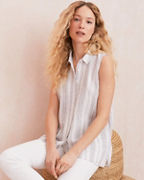 Easy Linen Button-Down Tank