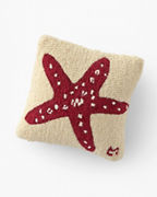 Starfish Hooked Wool Pillow