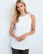 EILEEN FISHER Jersey Crew-Neck Long Tank