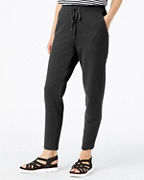EILEEN FISHER Organic-Cotton Twill-Knit Slouchy Ankle Pants