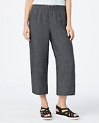 EILEEN FISHER Organic-Linen Tweed Pull-On Pants