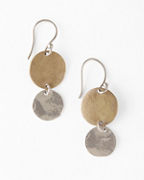 Kristen Mara Mixed-Metal Disc Earrings