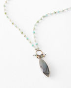 Original Hardware Opal & Labradorite Necklace