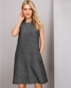 EILEEN FISHER Organic-Linen Tweed Dress