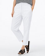 EILEEN FISHER Organic-Cotton & Hemp High-Waisted Tapered Ankle Pants