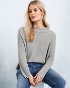 EILEEN FISHER Peruvian Organic-Cotton Funnel-Neck Boxy Top