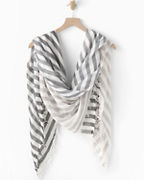 EILEEN FISHER Organic- Cotton Crinkle Stripe Scarf