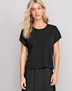 EILEEN FISHER Organic-Linen & Organic-Cotton Boxy Top