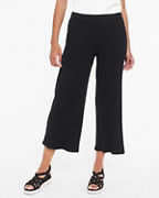 EILEEN FISHER Textured Stretch Ribbed Wide-Leg Pants