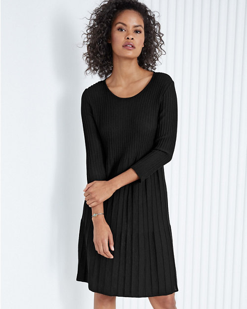 d6a74644b3 EILEEN FISHER Washable Wool Scoop-Neck Dress. Quick Shop