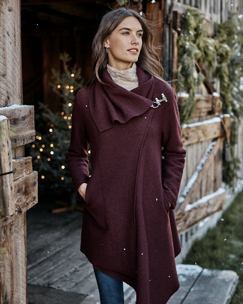 7812044d639 Asymmetrical Boiled Wool Coat