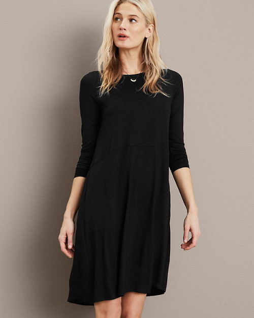 bdf0509572 EILEEN FISHER Viscose-Jersey Flare Dress