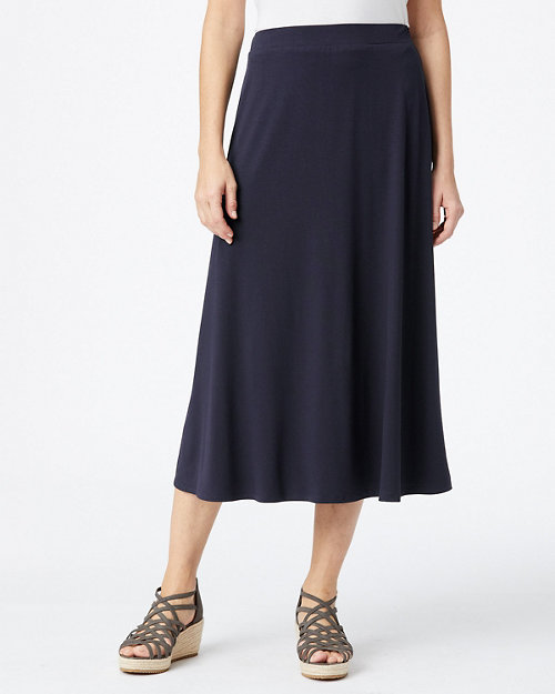 36bed1252e EILEEN FISHER Viscose-Jersey Flare Midi Skirt