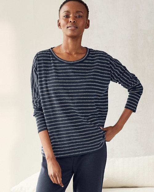 cadfc22c1a Organic-Cotton Rib-Detail Sleep Shirt