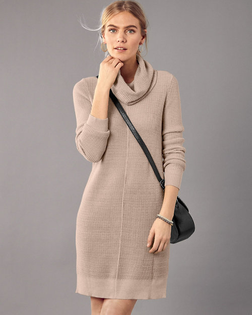 61103c1f970 Easy Cowl-Neck Sweater Dress