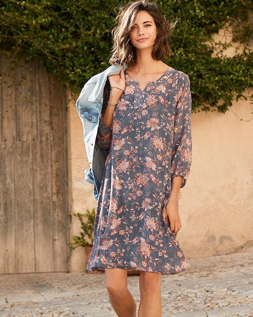 1a1f0585f2 Bishop-Sleeve Silk Dress