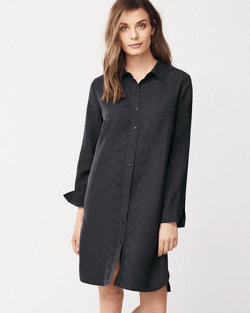 f9d875eb2c Silk   Linen Embroidered Shirtdress