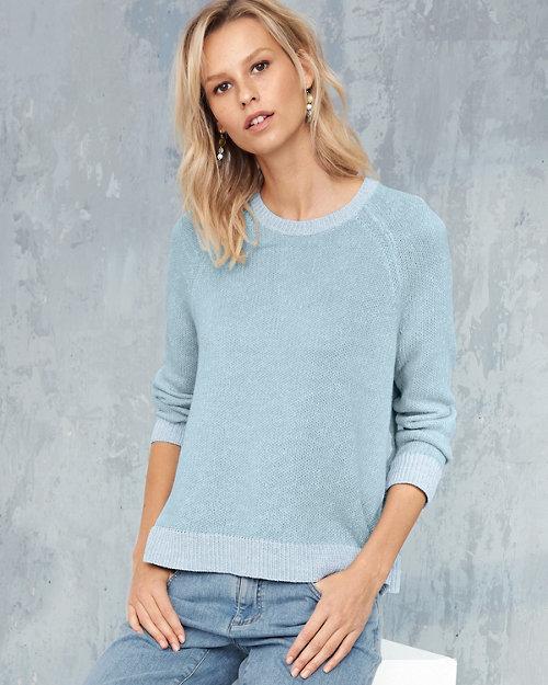 1d6a1f65bf5 EILEEN FISHER Plaited Organic Linen & Cotton Crewneck Sweater
