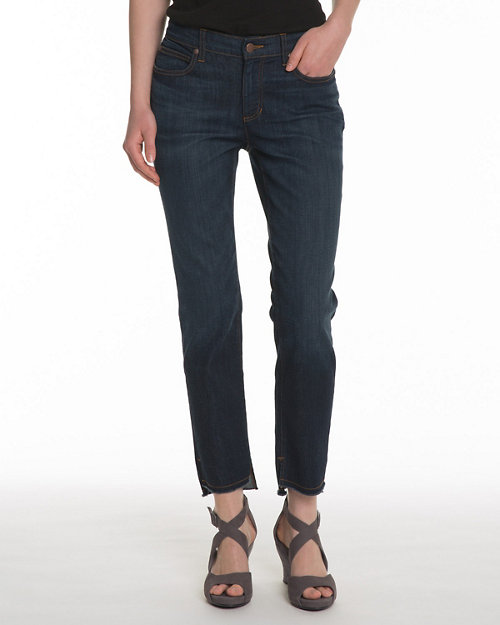 15fd0f1578958 EILEEN FISHER Frayed-Hem Organic-Cotton Stretch Jeans